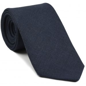 Midnight Blue Linen Tie #1