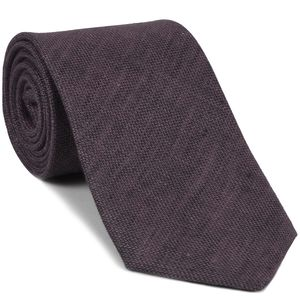 Plum (Purple & Midnight Blue) Linen Tie #2