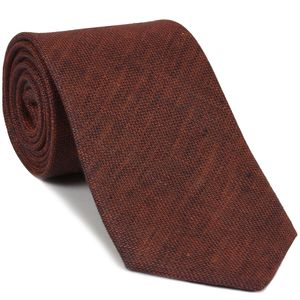 Dark Burnt Orange (Burnt Orange & Midnight Blue) Linen Tie #3