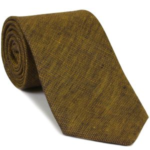 Dark Gold (Yellow Gold & Midnight Blue) Linen Tie #5