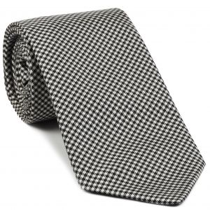 Black & White Shepherd's Check Silk Tie #27