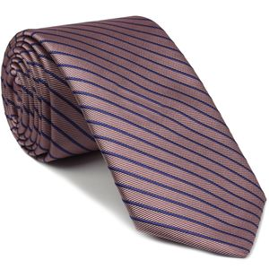 Lavender & Light Lavender Striped Silk Tie #SST-25