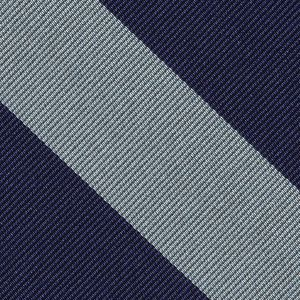 Pembroke College Cambridge Stripe Silk Tie #UKU-41 - Navy Blue & White