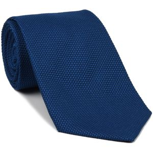Dark Blue Grenadine Fina Silk Tie #GFT-13