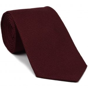 Dark Red Grenadine Fina Silk Tie #GFT-2