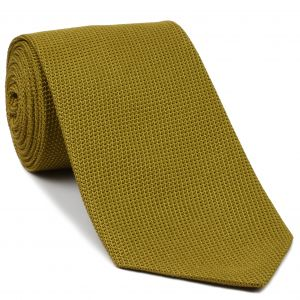 Dark Gold Grenadine Fina Silk Tie #GFT-28