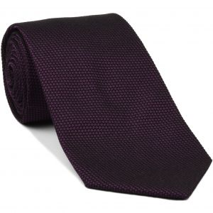 Dark Purple/Black Grenadine Fina Silk Tie #GFT-35