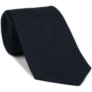 Midnight Blue Grenadine Fina Silk Tie #GFT-8