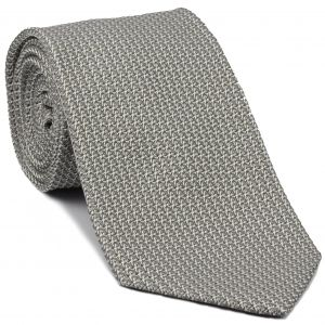 Charcoal Gray/Silver Grenadine Grossa Silk Tie #GGT-21