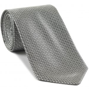 Silver & Black Formal/Wedding Silk Tie #WDT-15