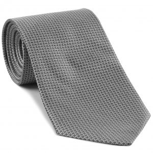 Silver & Black Formal/Wedding Silk Tie #WDT-18