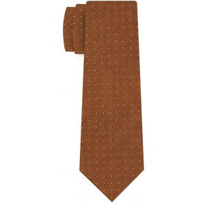 Yellow Gold on Burnt Orange Mogador Pin Dot Tie #MGPDT-7