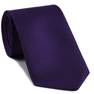 Dark Purple Diamond Weave Silk Tie #FFDT-25