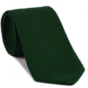 Forest Green Shantung Solid Silk Tie #SHSOT-5