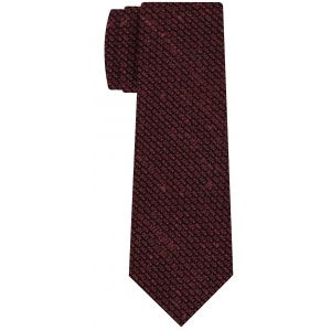 Red Shantung Grenadine Grossa Silk Tie #SHGT-7
