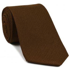 Chocolate Piccola Grenadine Silk Tie #GPT-4