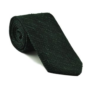 Forest Green Shantung Grenadine Grossa Silk Tie