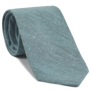 Sky Blue Chocolate Shantung Solid Silk Tie #SHSOT-13