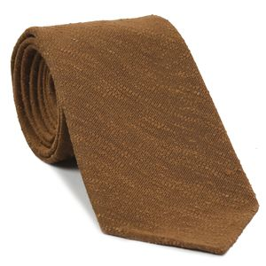 Burnt Orange Shantung Solid Silk Tie #SHSOT-4
