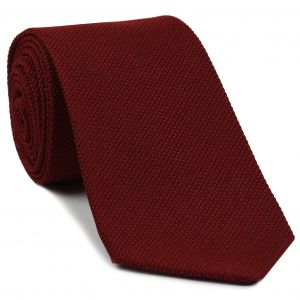Red Piccola Grenadine Silk Tie #1