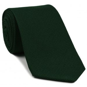 Forest Green Piccola Grenadine Silk Tie #11