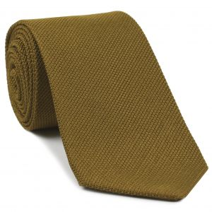 Dark Gold Piccola Grenadine Silk Tie #17
