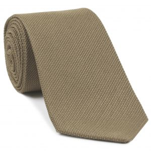 Dark Cream Piccola Grenadine Silk Tie #GPT-18