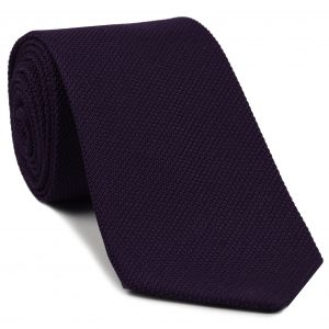 Dark Purple Piccola Grenadine Silk Tie #19