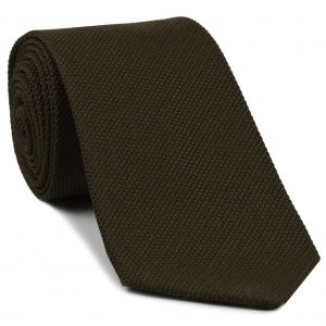 Bitter Chocolate Piccola Grenadine Silk Tie #5