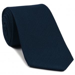 Navy Blue Piccola Grenadine Silk Tie #8