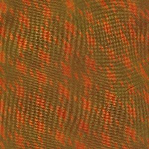 Orange on Green withe Red Mudmee Silk Tie #55