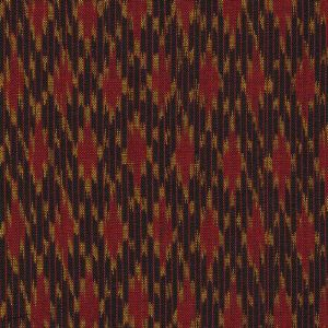 Red & Yellow Gold on Bitter Chocolate Mudmee Silk Tie #8
