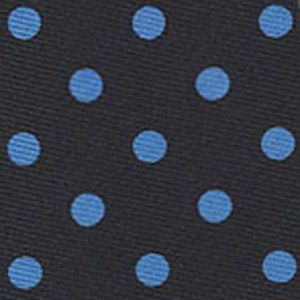 Sky Blue on Midnight Blue Macclesfield Silk Tie #MCDT-15