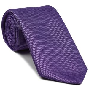 Magenta Diamond Weave Silk Tie #11