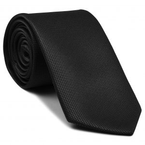 Black Diamond Weave Silk Tie #1
