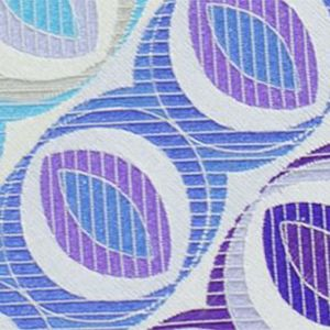 White / Powder Blue / Blue & Purple English Geometric Silk Tie # 30