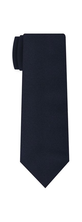 Dark Navy Blue Satin Silk Tie #7