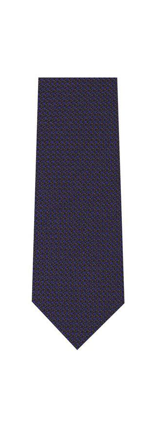 Royal Blue on Midnight Blue Grenadine Pin Dot Silk Tie #4